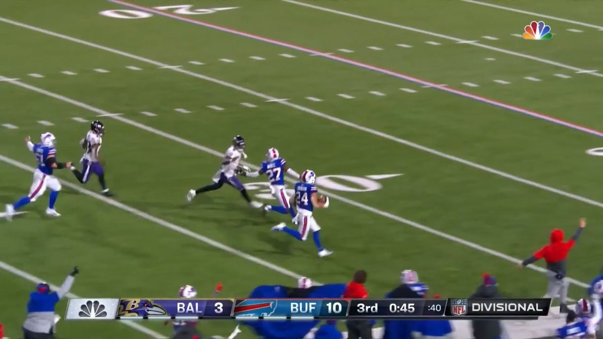 Lamar's best play of the game #BALvsBUF #BillsMafia #NFLDivisional #DivisionalRound
