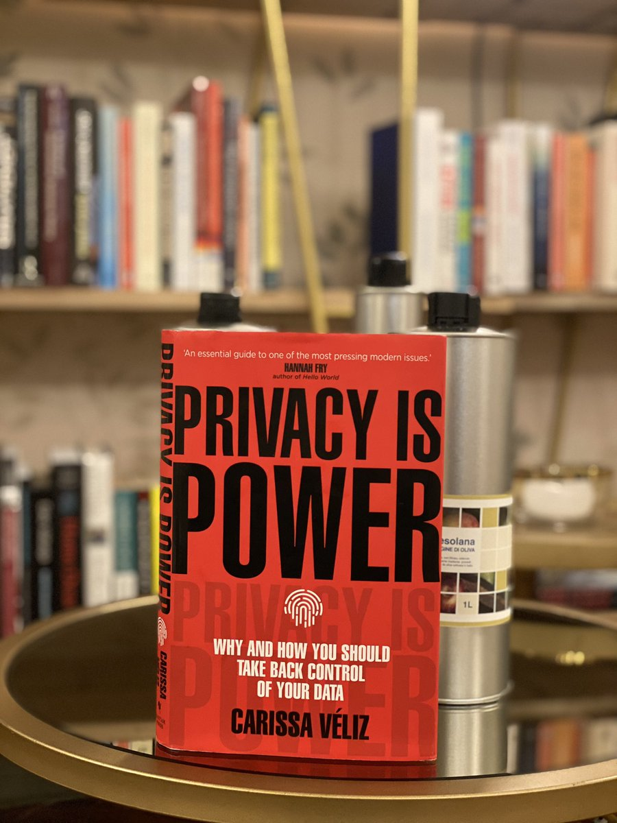 The best book I have read on privacy and big tech. Well written, analytical and as powerful as its title. No nonsense, just straighforward knowledge and well researched facts in a compact package. A warm recommendation. @carissaveliz