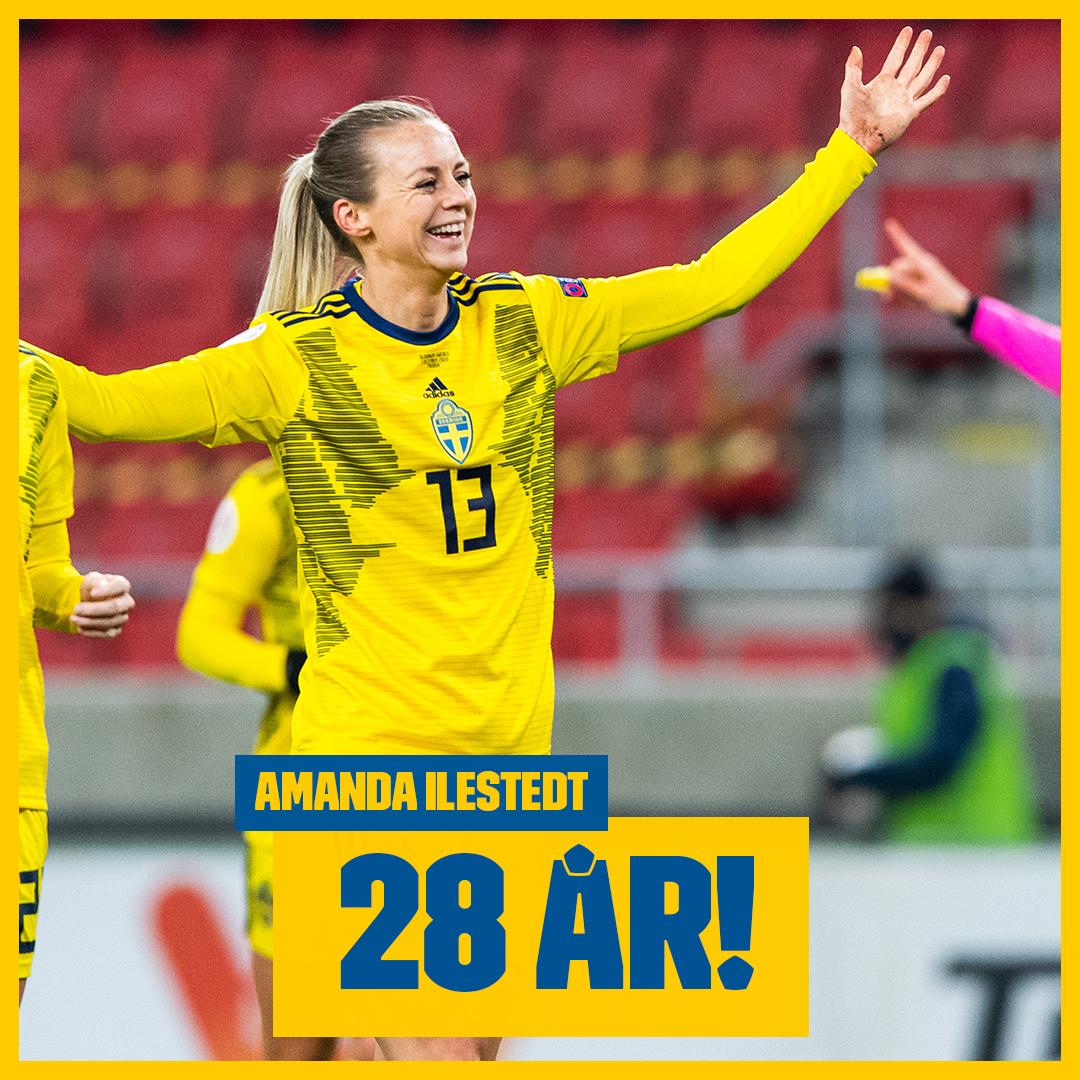 Stort grattis Amanda Ilestedt som idag fyller 28 år! 🎂😃 Skriv din grattishälsning till Amanda här! 🎉