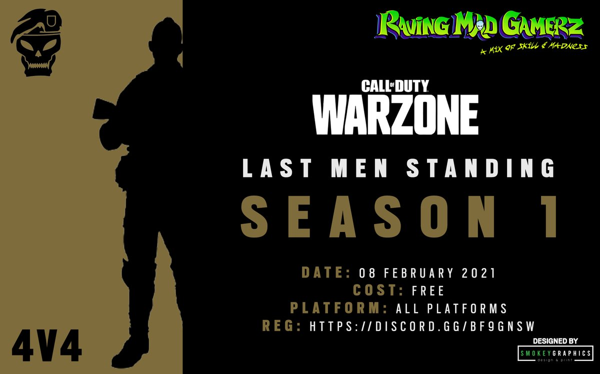 Introducing our WarZone League for 2021  Join up using our discord:   How to register:   Designed by @SmokeyGraphics    #beravingmadaboutgaming #lastmenstanding #codza