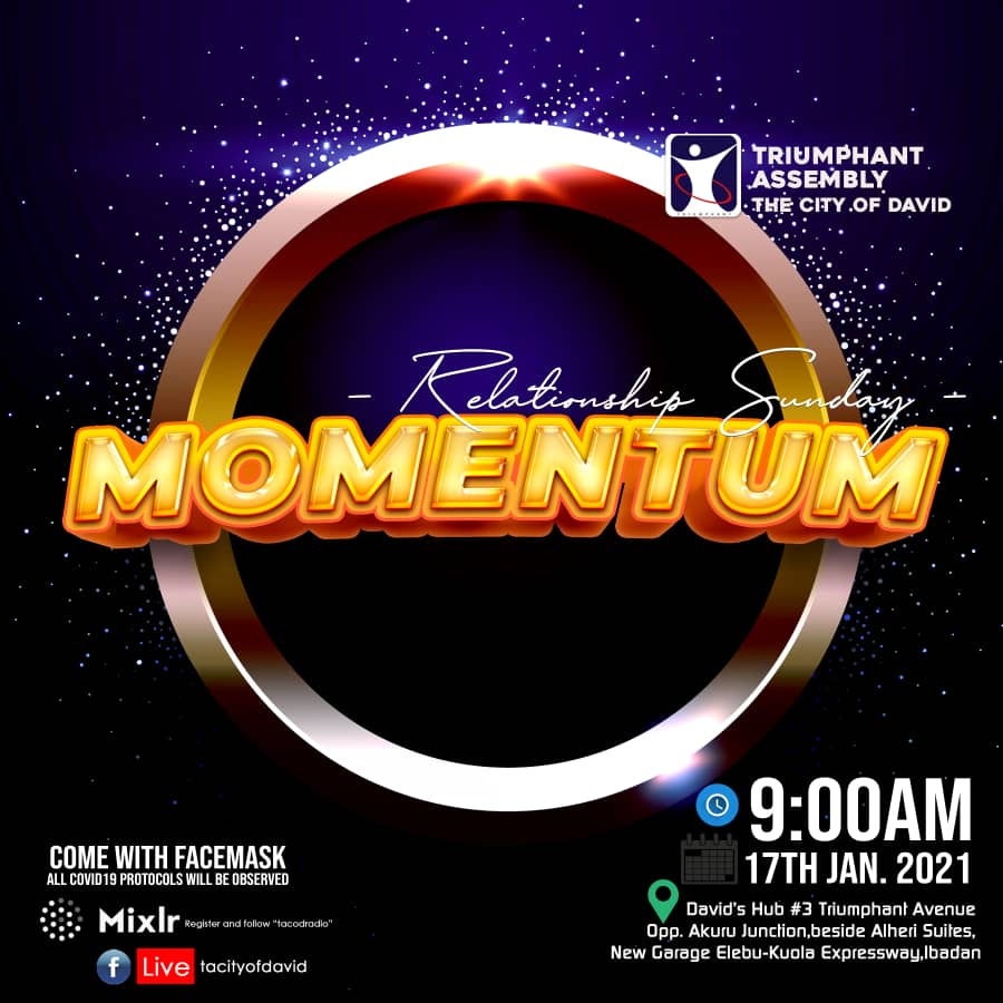And we end the service with the pledge of the allegiance. I have no doubt that you had a wonderful time in God's presence. Remember to follow through with the robust teaching today. Build and sustain the right momentum in your relationships. #momentum