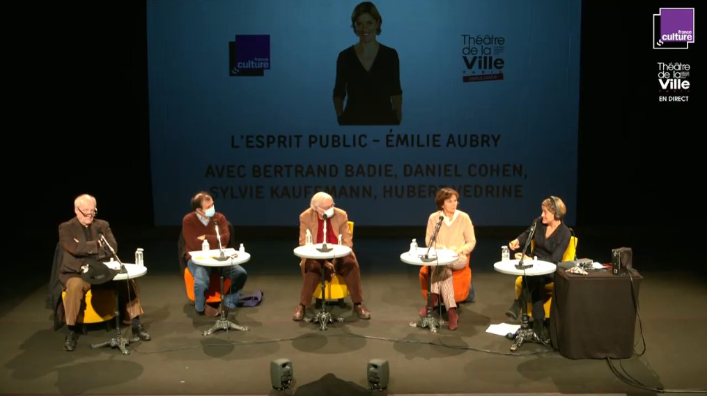 #LEspritPublic en Direct du Théâtre de la Ville @TheaVilleParis via @youtube @franceculture https://t.co/SPzcp95ENZ https://t.co/y2uirV7HUp