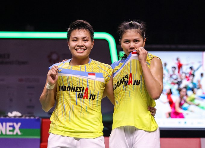 Ganda Putri Indonesia Greysia Polii/Apriyani Rahayu juara Yonex Thailand Open 2021