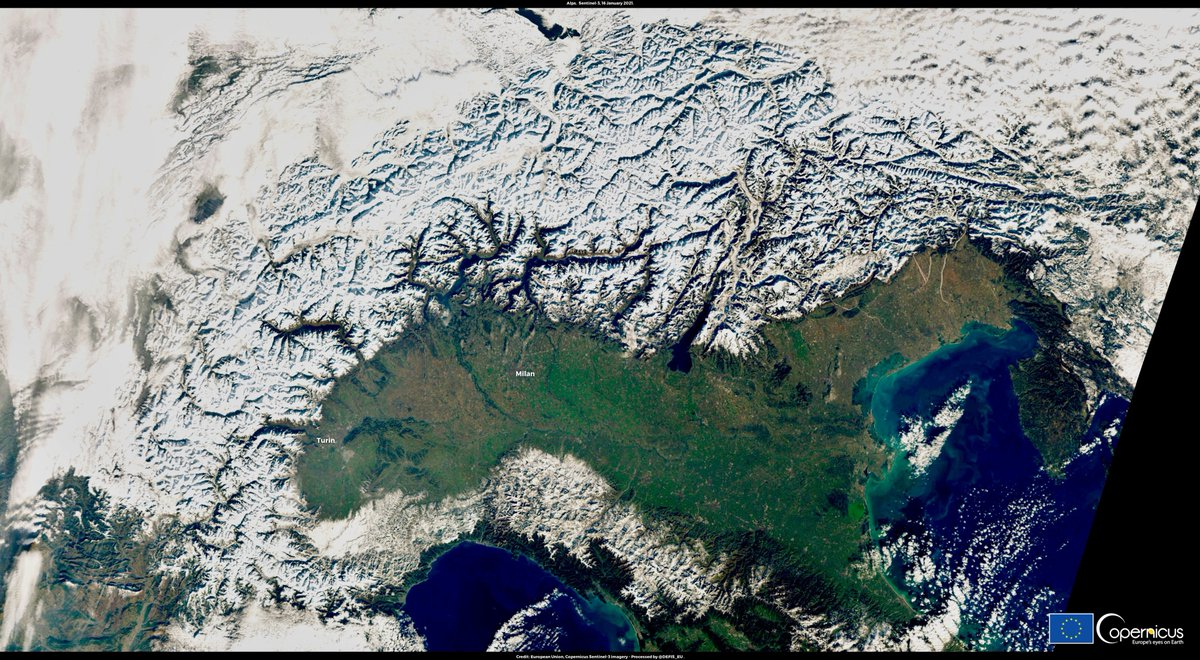 #EUSpace for Snow & Ice Monitoring Clear skies from the French Prealps to the Karavanks range, Klagenfurt and the Southern Limestone Alps enabled the @CopernicusEU #Sentinel2 🇪🇺🛰️ to capture another cloudless and beautiful image of the Alpine Arc yesterday