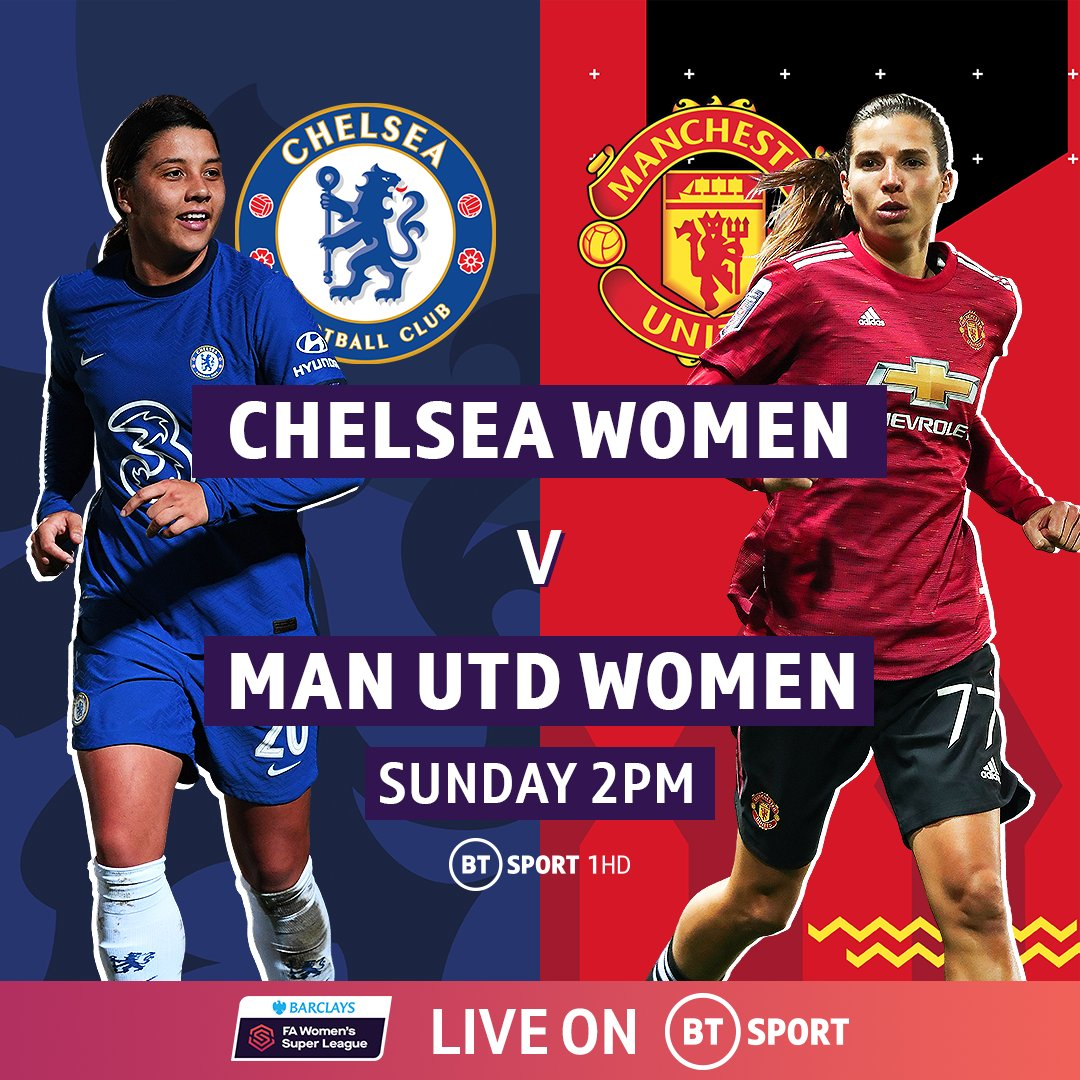 It's a top of the league clash as first and second in the FA WSL face off, live on @btsport.  Tune in live from 2PM. Not got it? Sign up here: