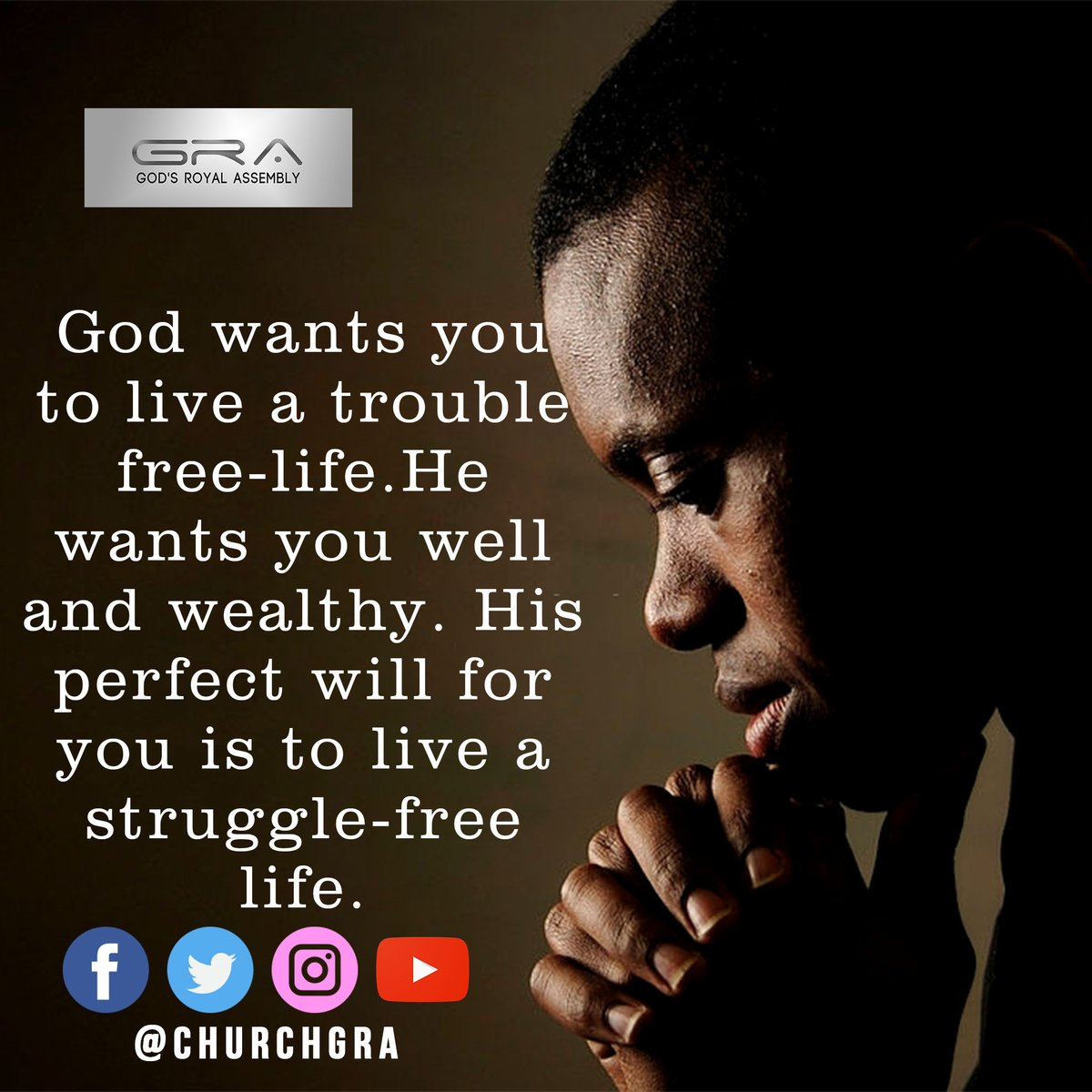 #Quotefortheday  God wants you to live a trouble-free life. He wants you well and wealthy. His perfect will for you is to live a struggle-free life.  #SaturdayThoughts