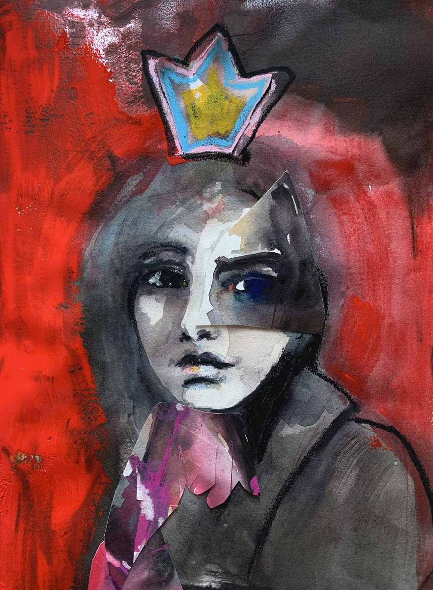 Brighter crown. #pain #painting #mixedmedia #whatatimetobealive #contemporarypainting https://t.co/LsbHqmW1xy