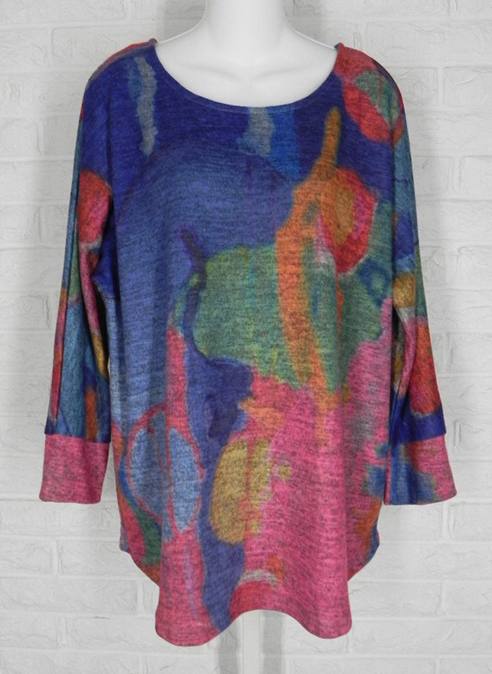 CLAIRE DESJARDINS Tunic Untitled One Wearable Art Multicolored NWT S XL  @eBay #shopsmall #clothing #fashion #arttowear