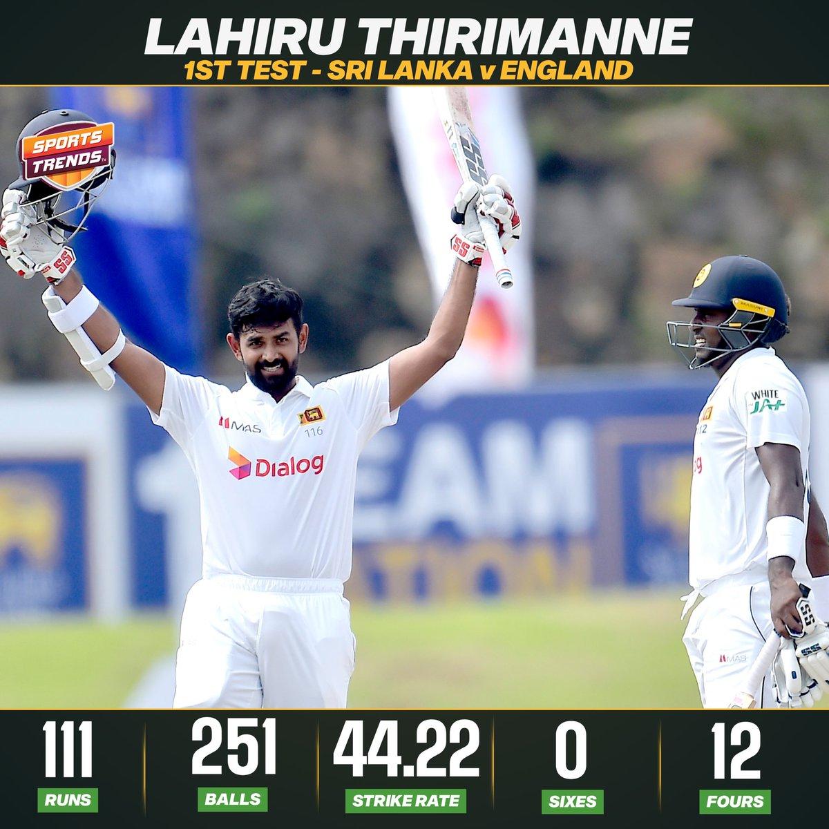 Excellent Hundred From Lahiru Thirimanne 💯  #Cricket #SAvENG #FirstTest #ENGvSL