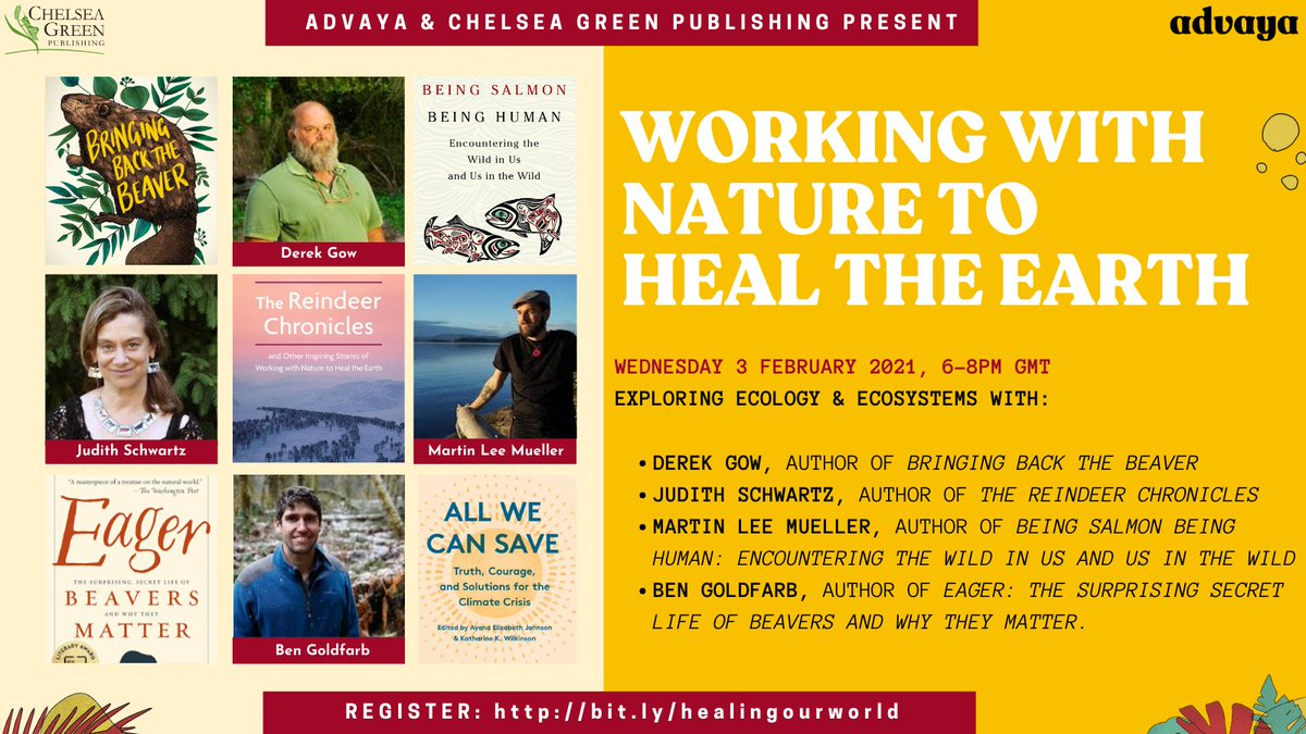 Part 2 of Food, Farming & Healing Our World will explore the relationships between ecosystems, food and farming with @derekgow, @judithschwartz, @bengoldfarb & Martin Lee Mueller  Register here: