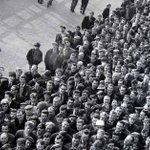 Image for the Tweet beginning: March 1965, there's queues outside