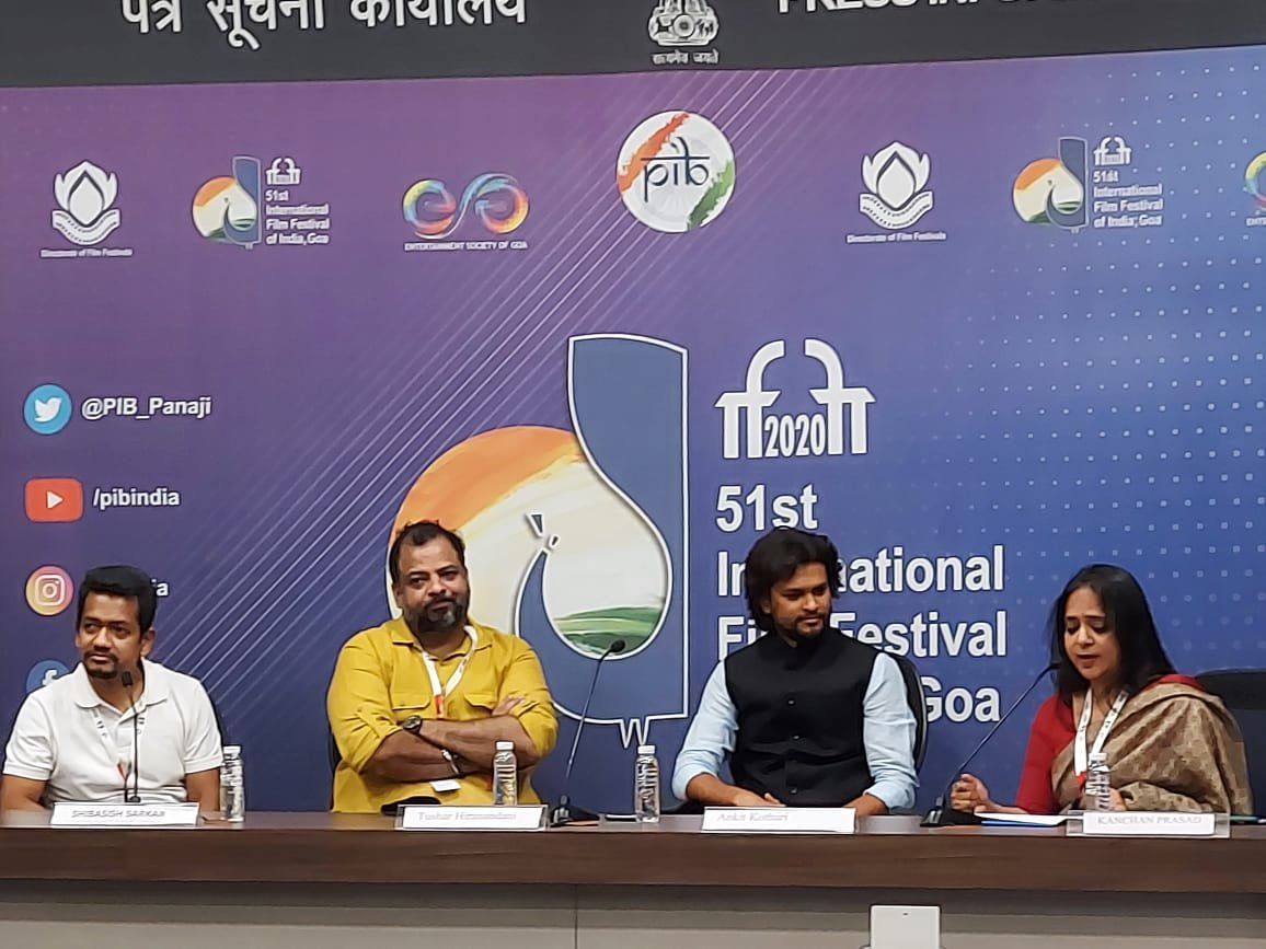 📡LIVE NOW📡  Press Conference by the Directors of Opening Films of Indian Panorama at #IFFI51   Tushar Hiranandani - Director, Saand Ki Aankh  Ankit Kothari - Director, Paanchika  Watch on PIB's🔽  YouTube: