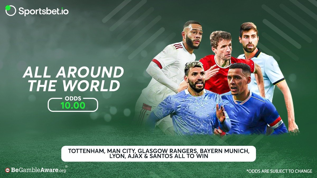 🏟️ Super Seven Multi featuring big clubs from all over the world in this double figure-priced multi! 😍  Will you back them all to win?   Odds - 10.00 🚀  Head to 👉  and win now! 💰  #Football #ManCity #RangersFC #Bayern #Lyon #Ajax #SantosFC #win