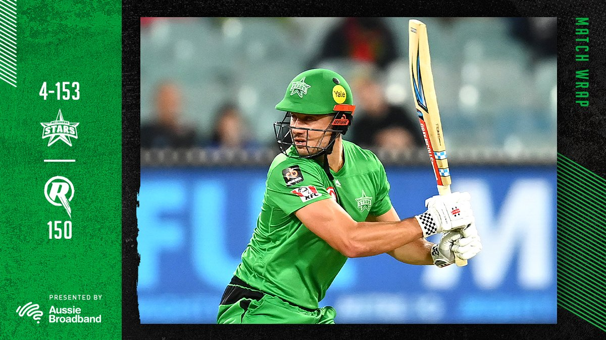 Yess Maddo! Sealed with a 6⃣!  STARS WIN in the last over at the @MCG 💚  #TeamGreen #BBL10 https://t.co/dooXU74xQ8