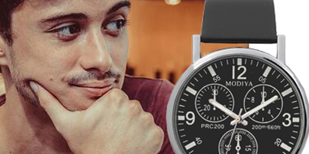 #picoftheday #bhfyp #model #me #instadaily #smile #art #likeforlikes #beauty #followme #Holiday2020 #kosvalley Watches Quartz Men's Minimalistic Watches For Men Wrist Watches Leather Clock erkek kol saati relogio masculino reloj hombre