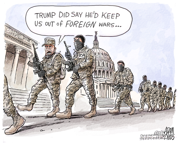 Domestic terrorism: Courtesy of Donald J. Trump  #DomesticWar #SundayMorning
