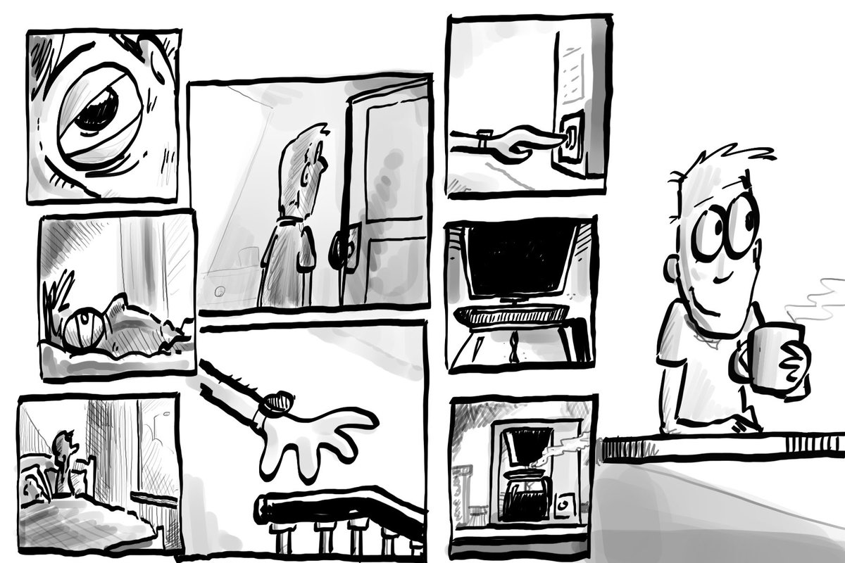 #Sundaymorning #narratives  #GraphicNovel   Part 6. Fin.  Why don't YOU pick a style and do one?