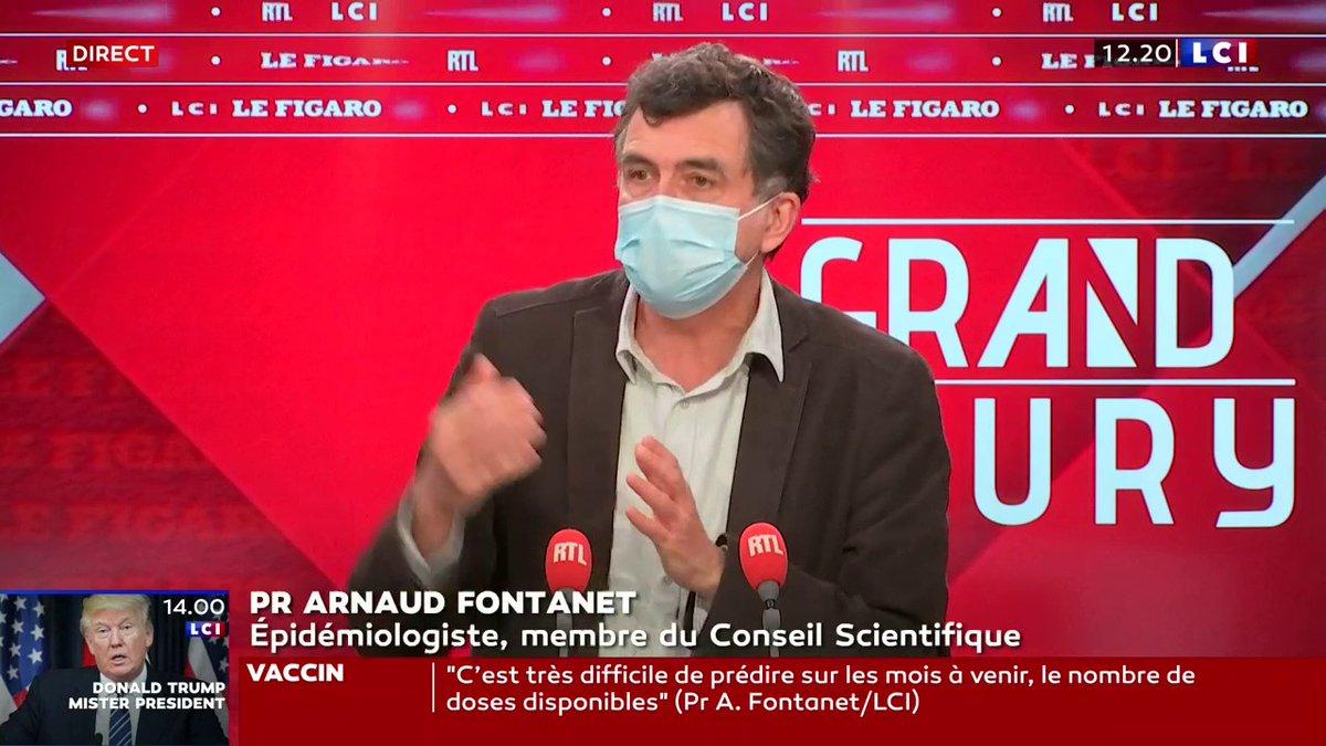 """▶ #COVIDー19.  🗣 Pr Arnaud Fontanet, sur les #variants : """"Ça va certainement retarder la sortie de crise"""".  📺 #LeGrandJury sur #La26 cc @agindre. https://t.co/XWLeqt8ceZ"""