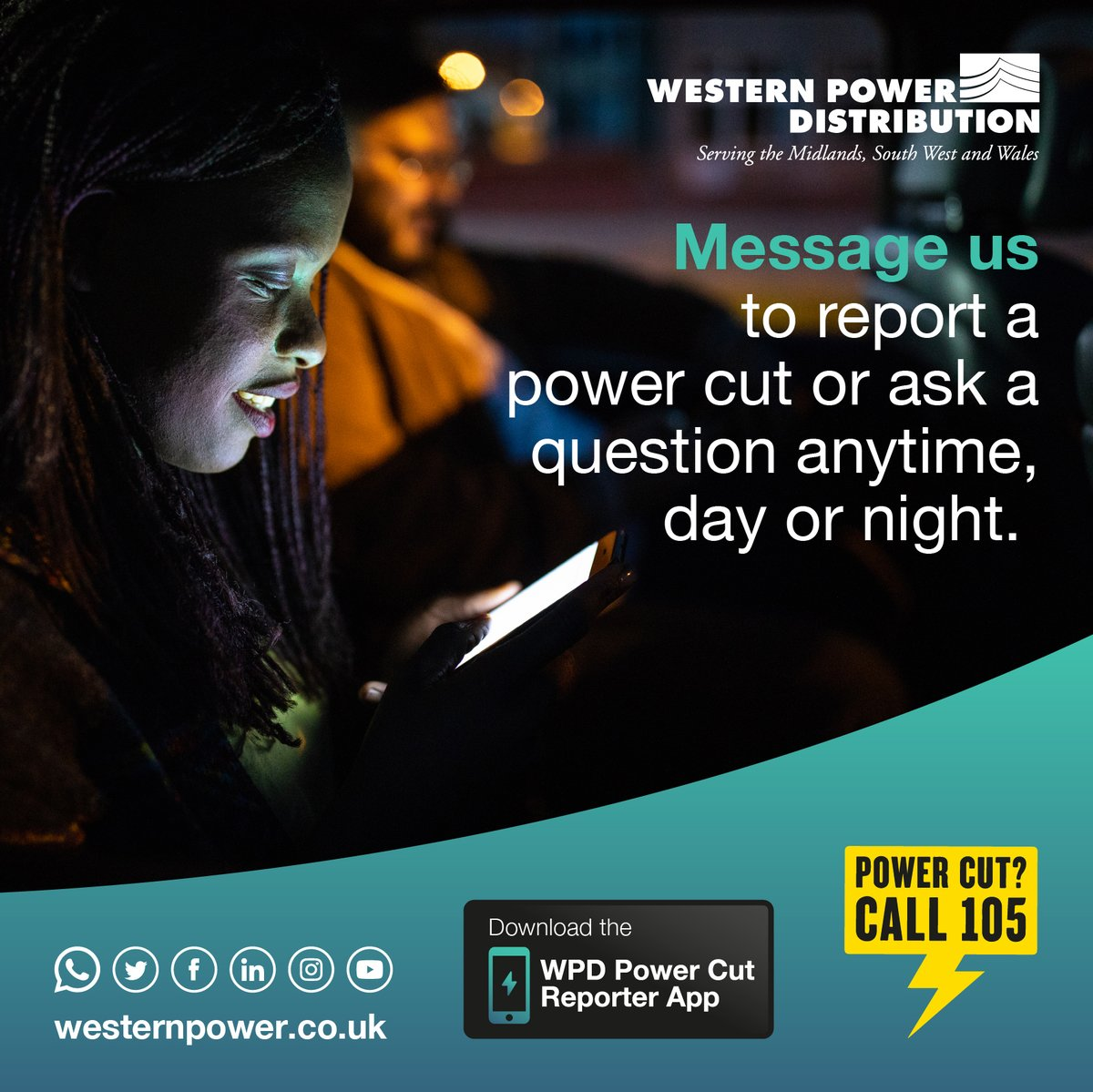 We may not be able to see our loved ones in person at the moment, but you can use our #PowerCut Reporter App to check for power cuts in their area and to sign up to our PSR for extra support in an outage.  https://t.co/jzk43s0B2v https://t.co/W9xzwvm9cC
