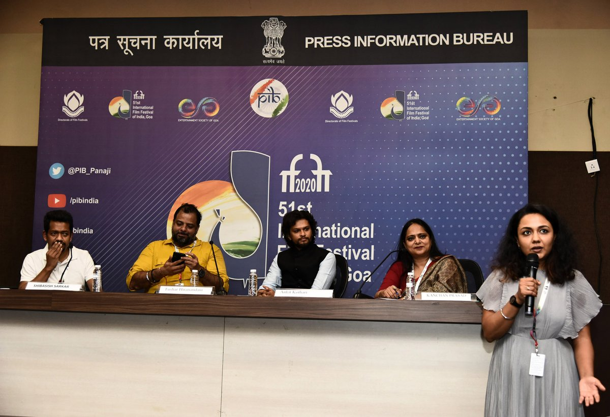 .@ankitnkothari speaks about his film Paanchika at #IFFI51   His 14-minute film, has been chosen as the opening film of the Indian Panorama (non-feature) section of #IFFI
