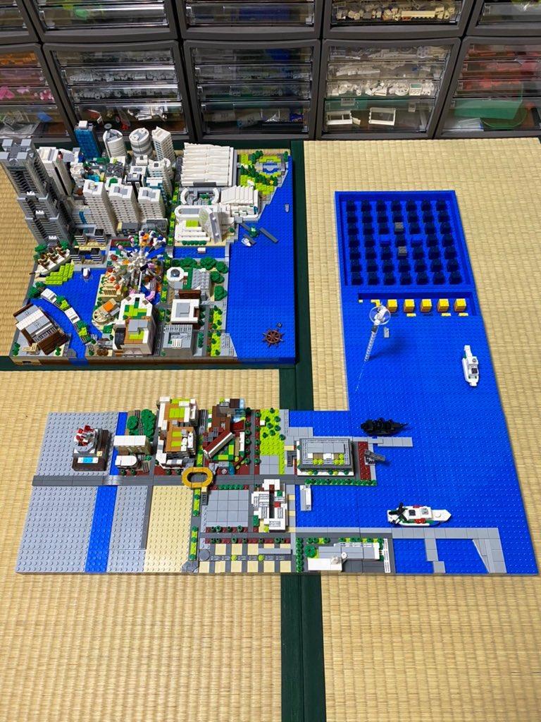 そしてシーズン3で大さん橋、神奈川県警本部、赤レンガ倉庫のエリアを製作して完全版となります✨  今回シーズン2をここまでにしたのは、2/20の海老名レゴオフ会展示のためです❗️こんなご時世なのでアレですが一般の方も見学できるみたいです😌👍 #横浜 #みなとみらい #ジオラマ #完全版 #LEGO #レゴ