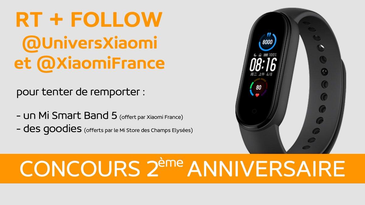 Univers Xiaomi a débuté sur Twitter il y a 2 ans... et pour fêter son anniversaire 🥳 voici un concours !!  Pour participer il faut :  - RT ce tweet - Follow @UniversXiaomi et @XiaomiFrance  Fin du concours le 24 janvier à 19h  #Xiaomi #XiaomiFrance #concours #UniversXiaomi