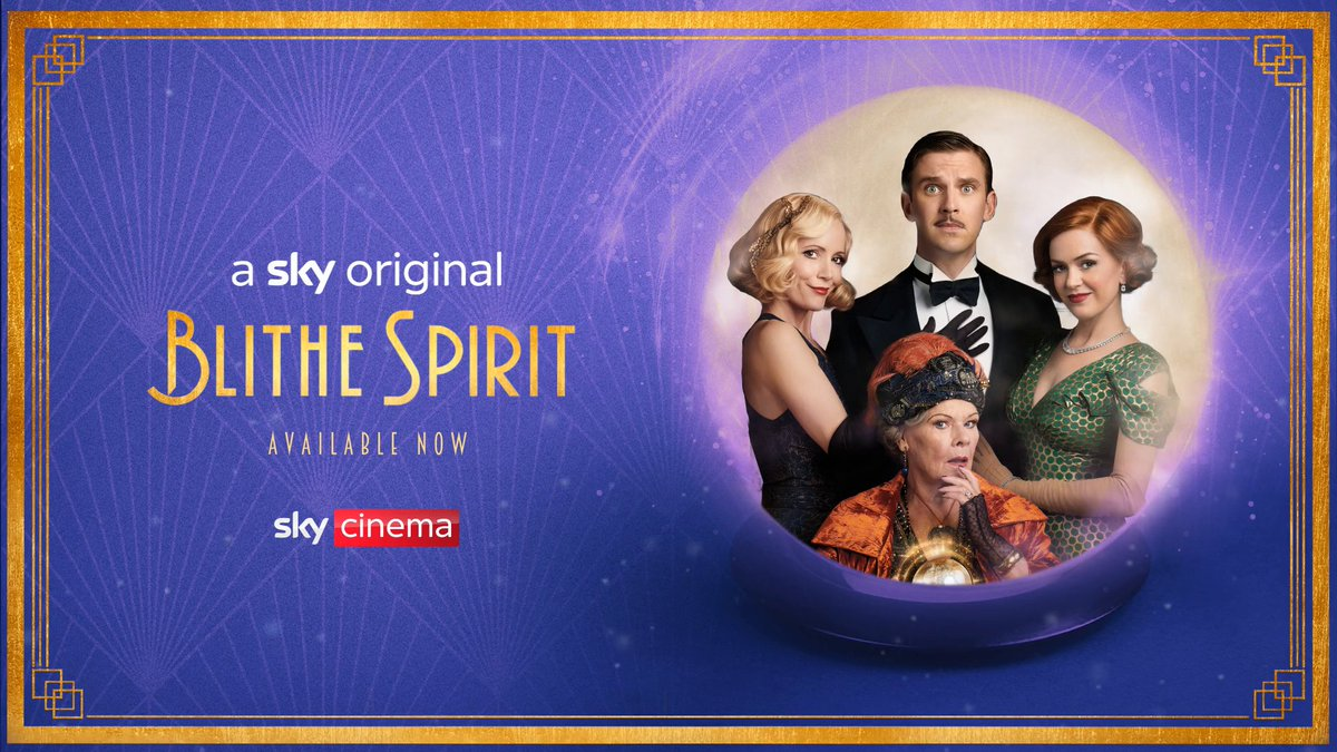 The love for #BlitheSpirit never dies 🙅‍♀️   Watch Dan Stevens and Dame Judi Dench in Blithe Spirit.  Available now, only on #SkyCinema