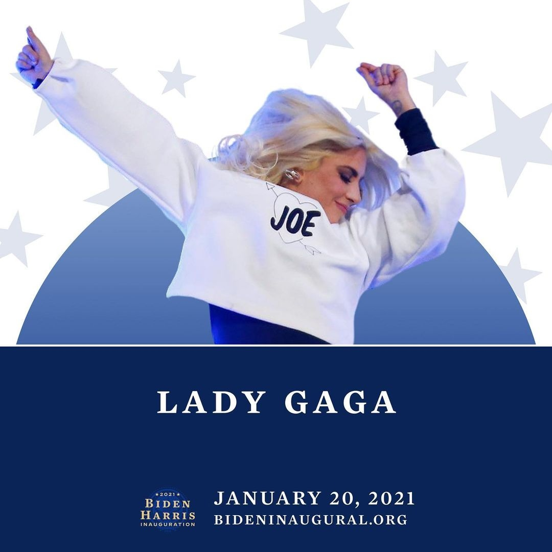.@LadyGaga has announced she will be performing the National Anthem on January 20th at the inauguration of Joe Biden and Kamala Harris 👏  #LadyGaga  https://t.co/kTBH6PeMcT