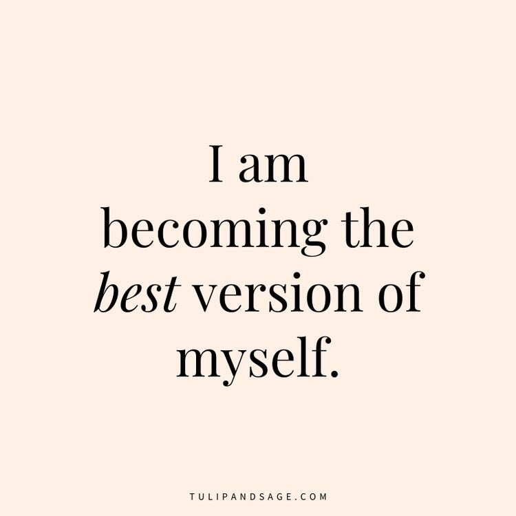 A #positive #Affirmation #foryou   I am becoming #TheBest version of #myself.   Photo cred @tulipandsage   #Iambecoming #journeybegins #positivethinking #positivemindset #positivementalhealth #PositiveMornings #PositiveVibes #PositiveVibesOnly #positiveenergy #positivity