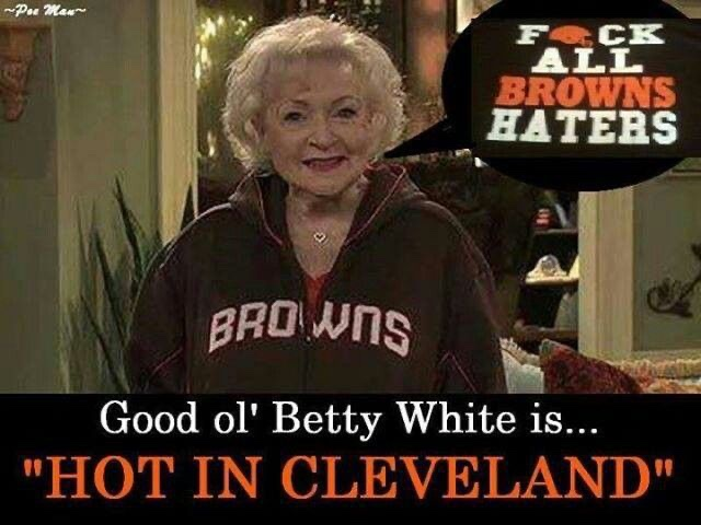 #HappyBirthdayBettyWhite #GoBrowns @Browns bring it for Betty!🏈