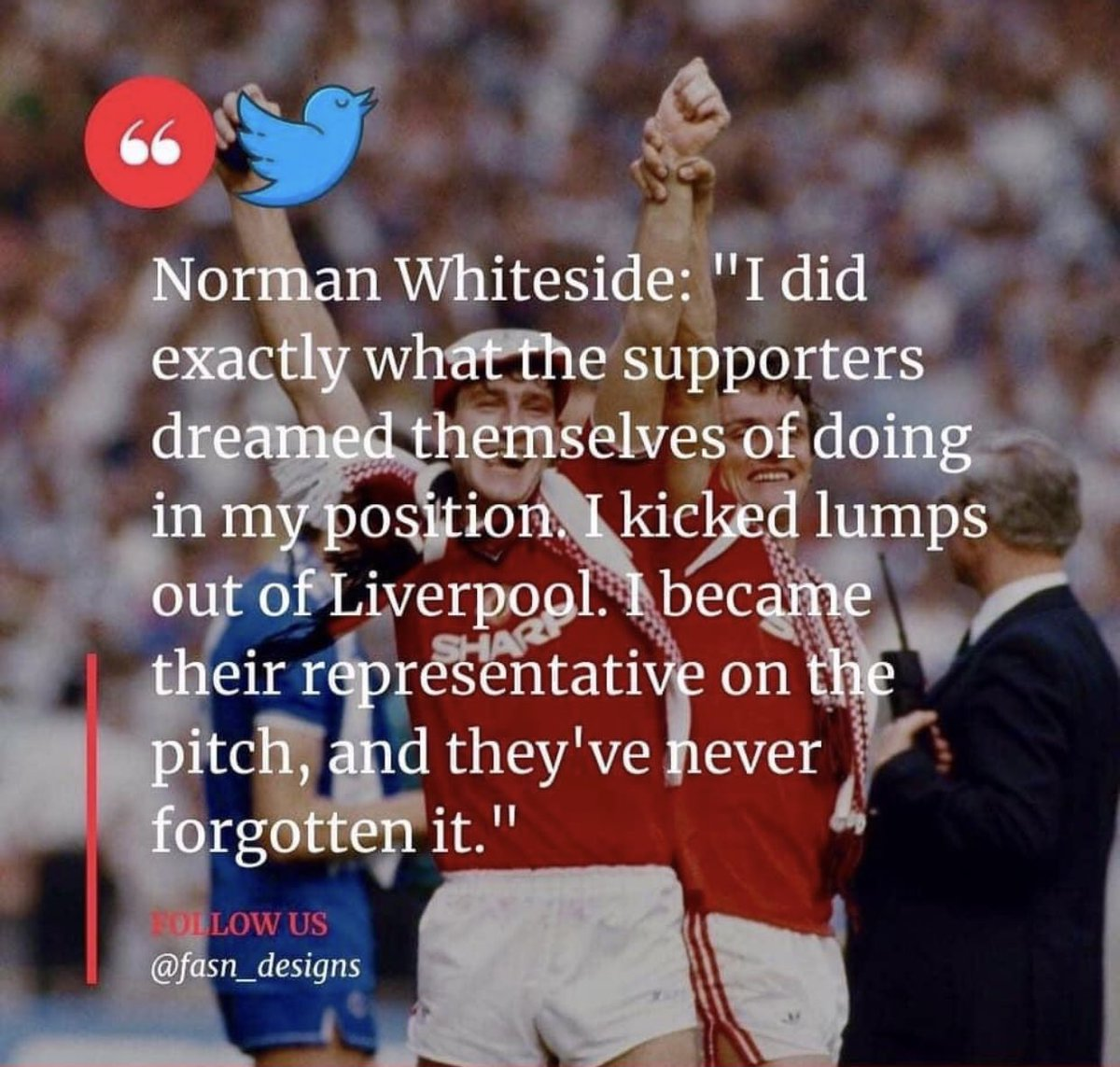 Always look on the @NormanWhiteside of life 🙌 #united #Vamos