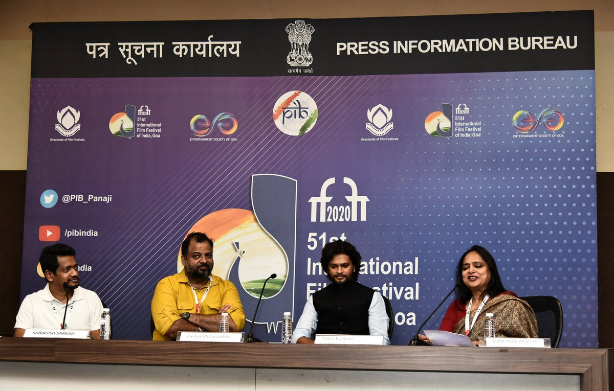 Directors of Opening films of Indian Panorama Feature and non-feature films address the media   Here are a few snapshots of the makers of, Saand ki Aaankh (Feature) and Paanchika (non-feature) addressing the media