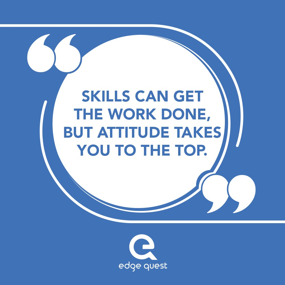The power of positive attitude is a strength that not just leaves an impression of your personality, but reflects in your work by adding the elements of high optimism and productivity.  #SundayThoughts #edgequest