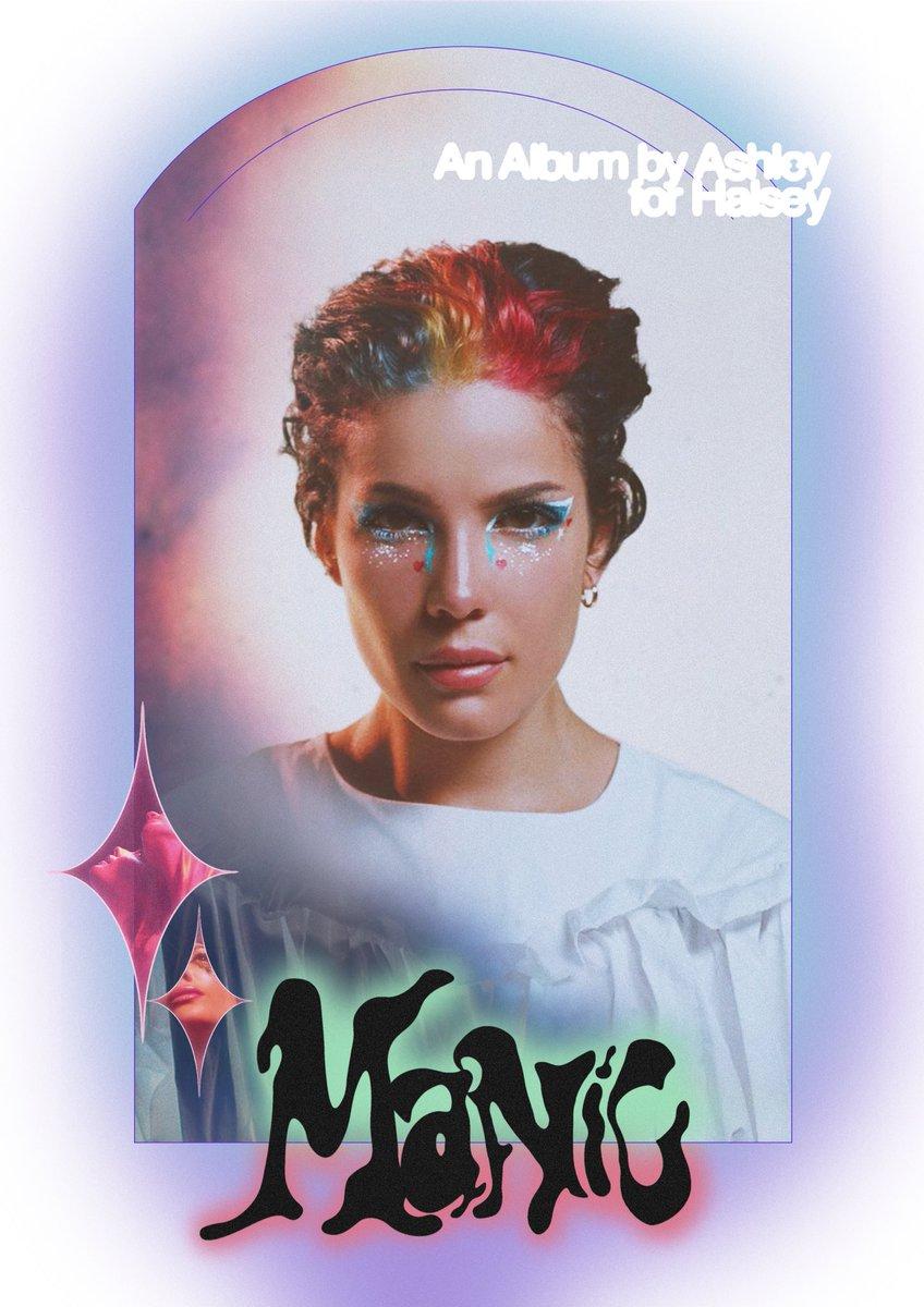 Replying to @hopelesskies: one year of MANIC poster ✨ @halsey #manic 💫