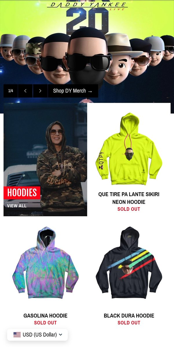DY Merch Sold Out! Felicidades🥳 @daddy_yankee I was 🤏 this close to buy Que Tire Pa Lante Hoodie I am happy for you! 🤩🥰 #DYArmy