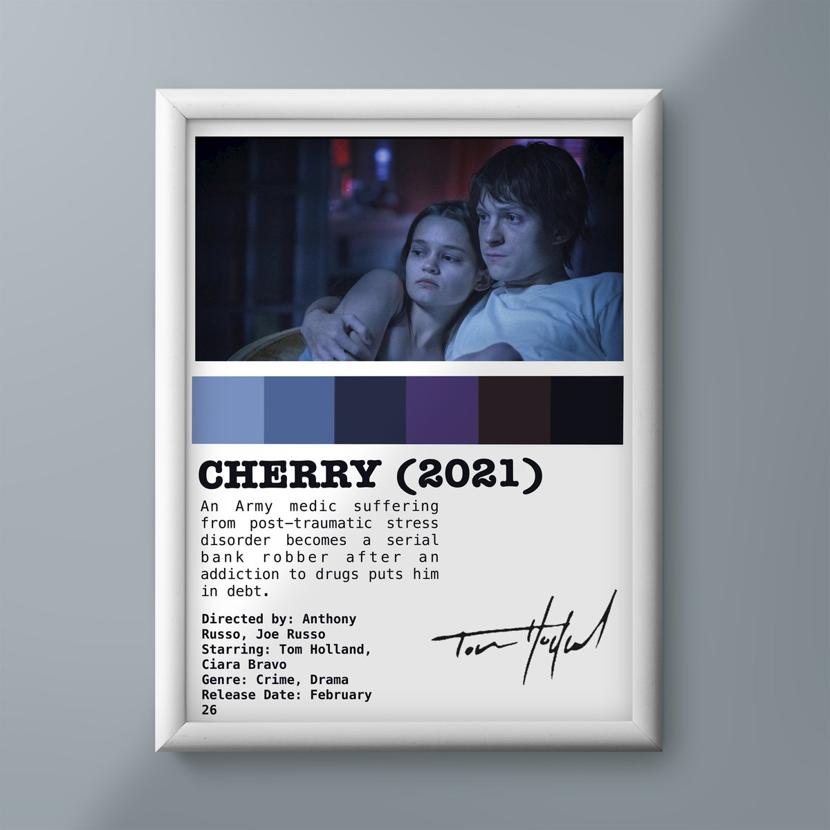 #Cherry, @TomHolland1996 upcoming movie directed by #russobrothers releasing in theatres on Feb 26 (2021) and will available in Apple play from march 12 (2021).  @Russo_Brothers @AppleTV  @ciarabravo @AGBOfilms @thehideawayent