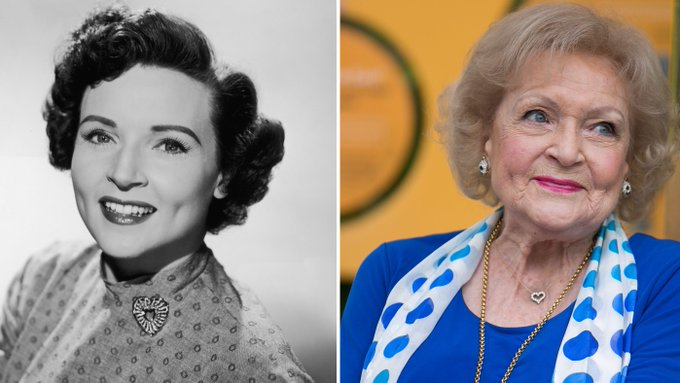 """Replying to @ThatEricAlper: """"I'm a teenager trapped in an old body."""" - Happy 99th Birthday to Betty White!"""