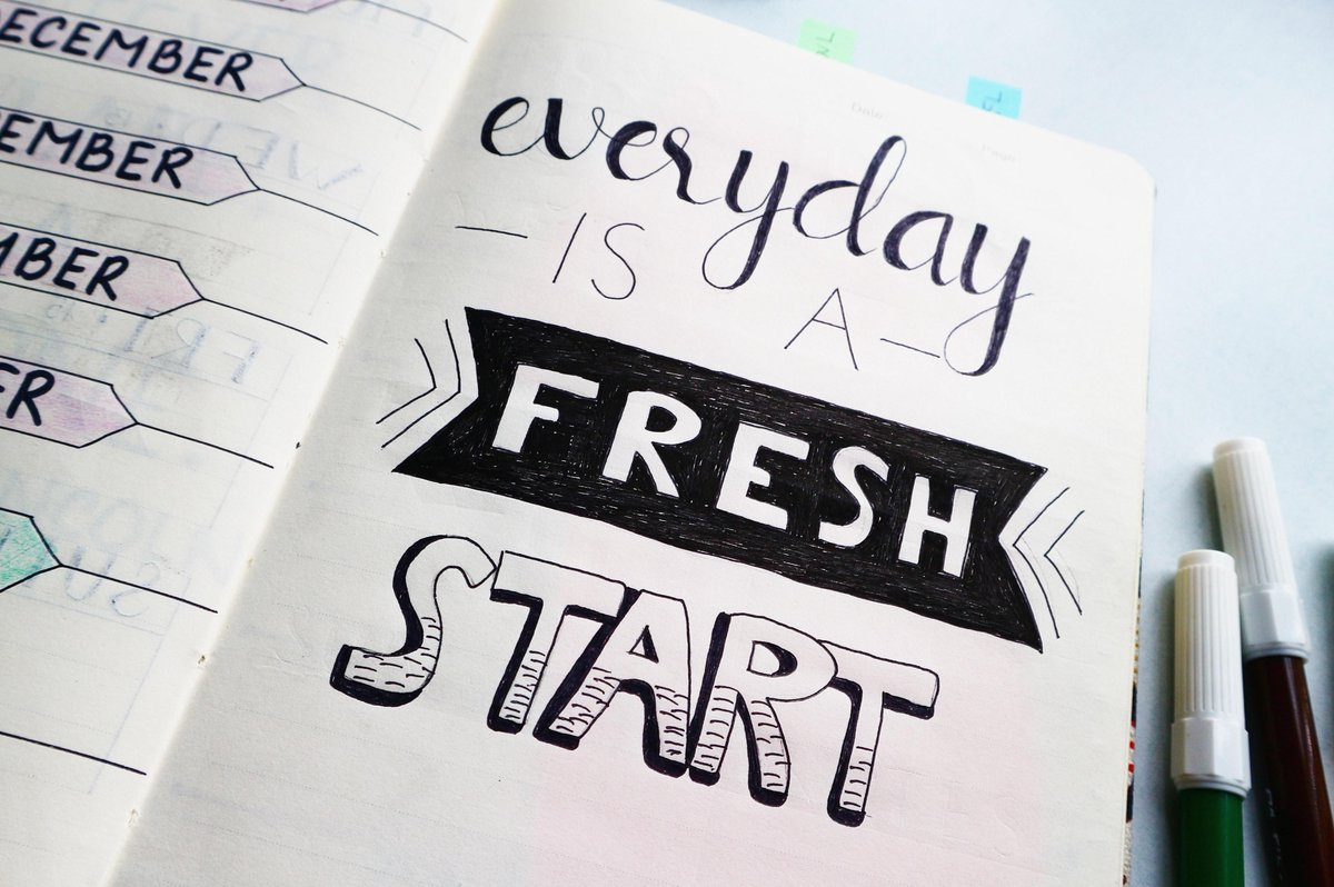 EVERYDAY IS A FRESH START.  #JYV #JustYogaVibes #yoga #justyoga #yogavibes #vibes #freshstart #new #start  #motivation #goodvibes #business #success #instagood #entrepreneur #hustle #goals #handwriting #font #calligraphy #diary #writing #education #novel #calligraphyartistagram https://t.co/91BZtxJK0J