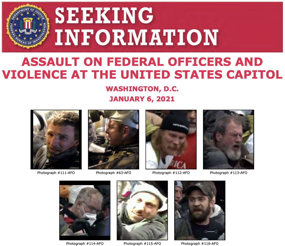 Replying to @Breaking911: WANTED: FBI releases photos of suspects in attack on DC police officer during Capitol riot