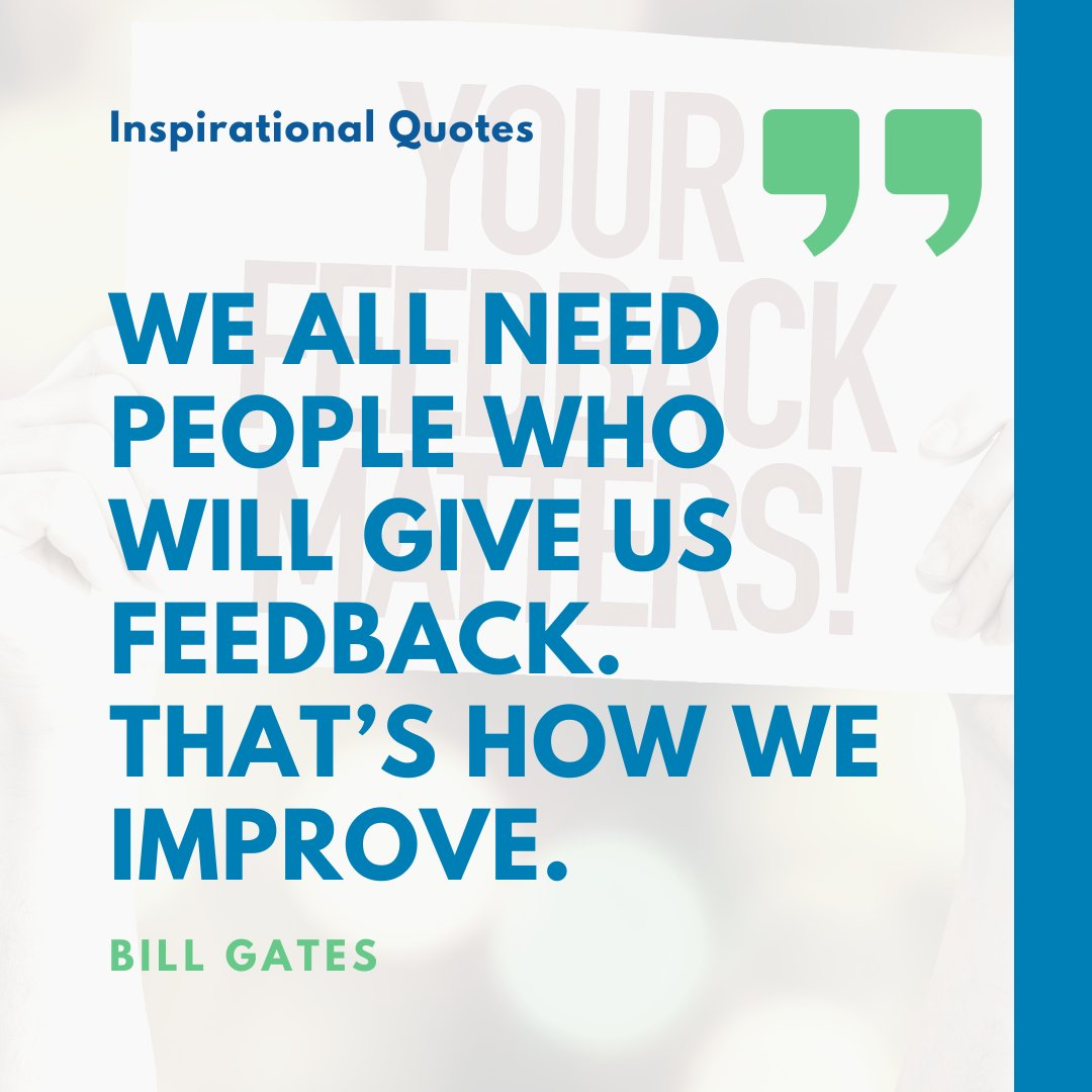 Our team have worked hard  to create ever improving ways of providing feedback on the work that we do.   Why?  Because our customers' satisfaction is a huge piece of our partnership with our customers.   #customerfeedback #mondaymotivation #monday #billgates #quote #improvement