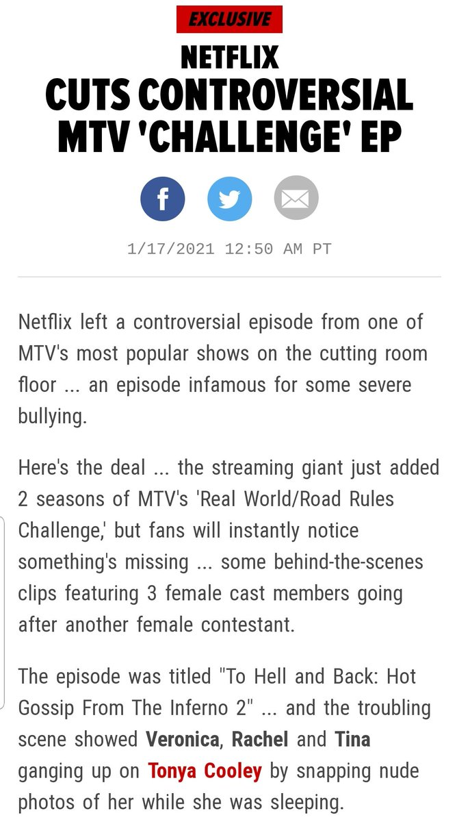 TMZ posted an article about @V_Cakee @rachel_fitness @TinaBarta 😬 #thechallenge36 #mtv #thechallenge
