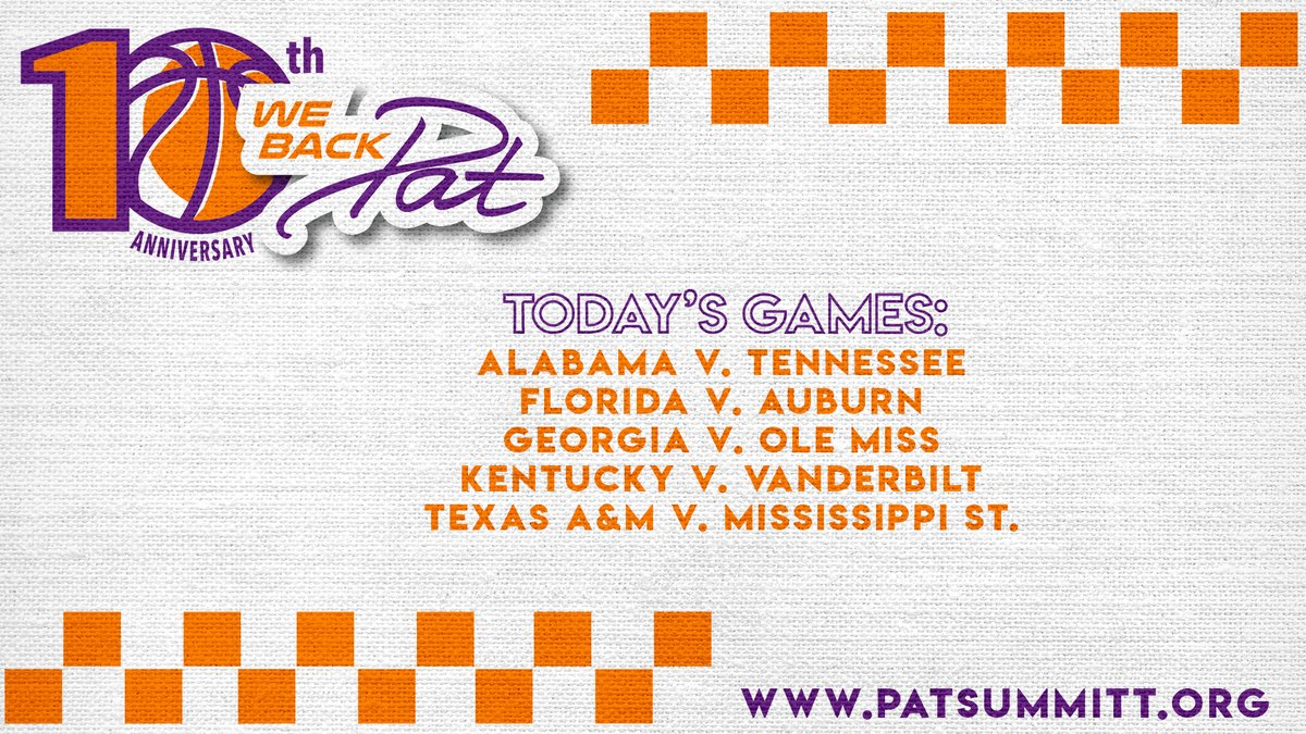 #WeBackPat Week continues 🧡💜 Times and networks for todays games » bit.ly/39GZbWB.
