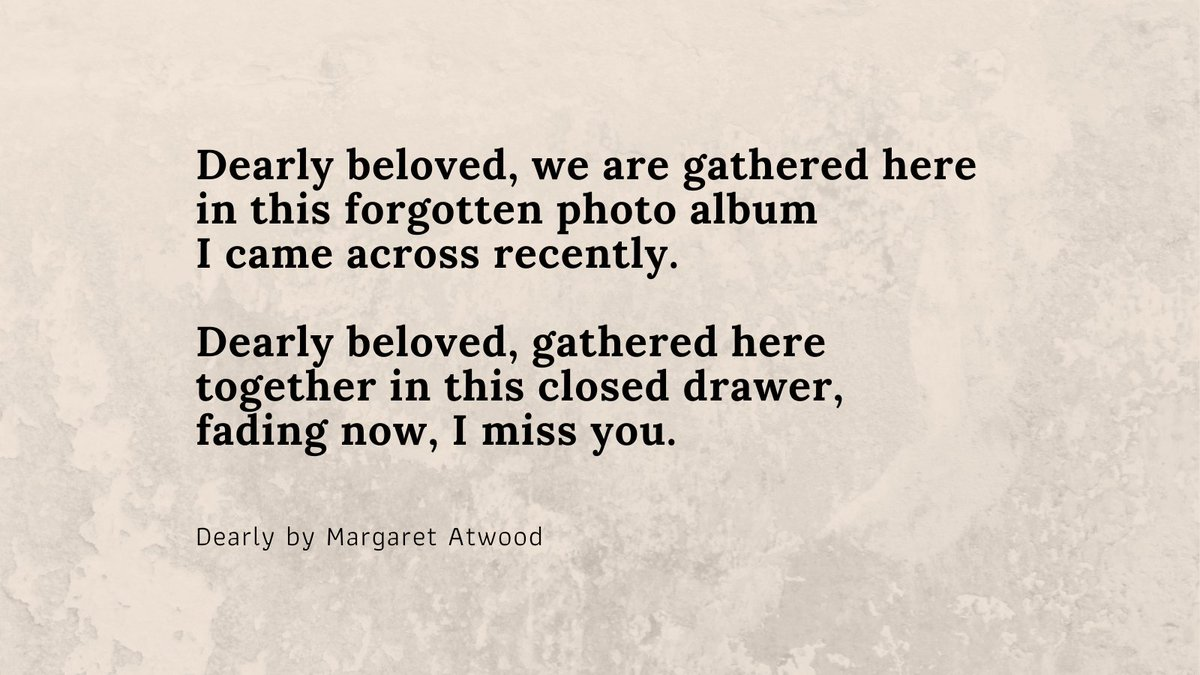 This beautiful poem is taken from @MargaretAtwood's new poetry collection, which explores her life caring for her husband with dementia and the many feelings that come along with grief. Read more: