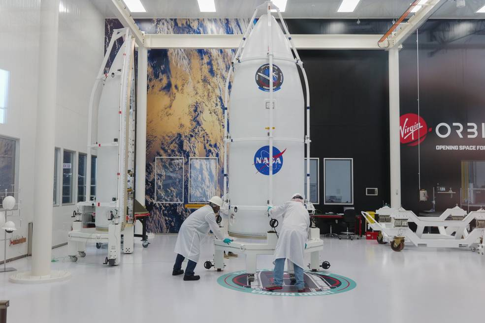 A NASA small satellite mission designed to study how small particles collide and aggregate in microgravity is scheduled to launch today on @Virgin_Orbit's LauncherOne as part of NASA's Educational Launch of Nanosatellites (ELaNa) program: