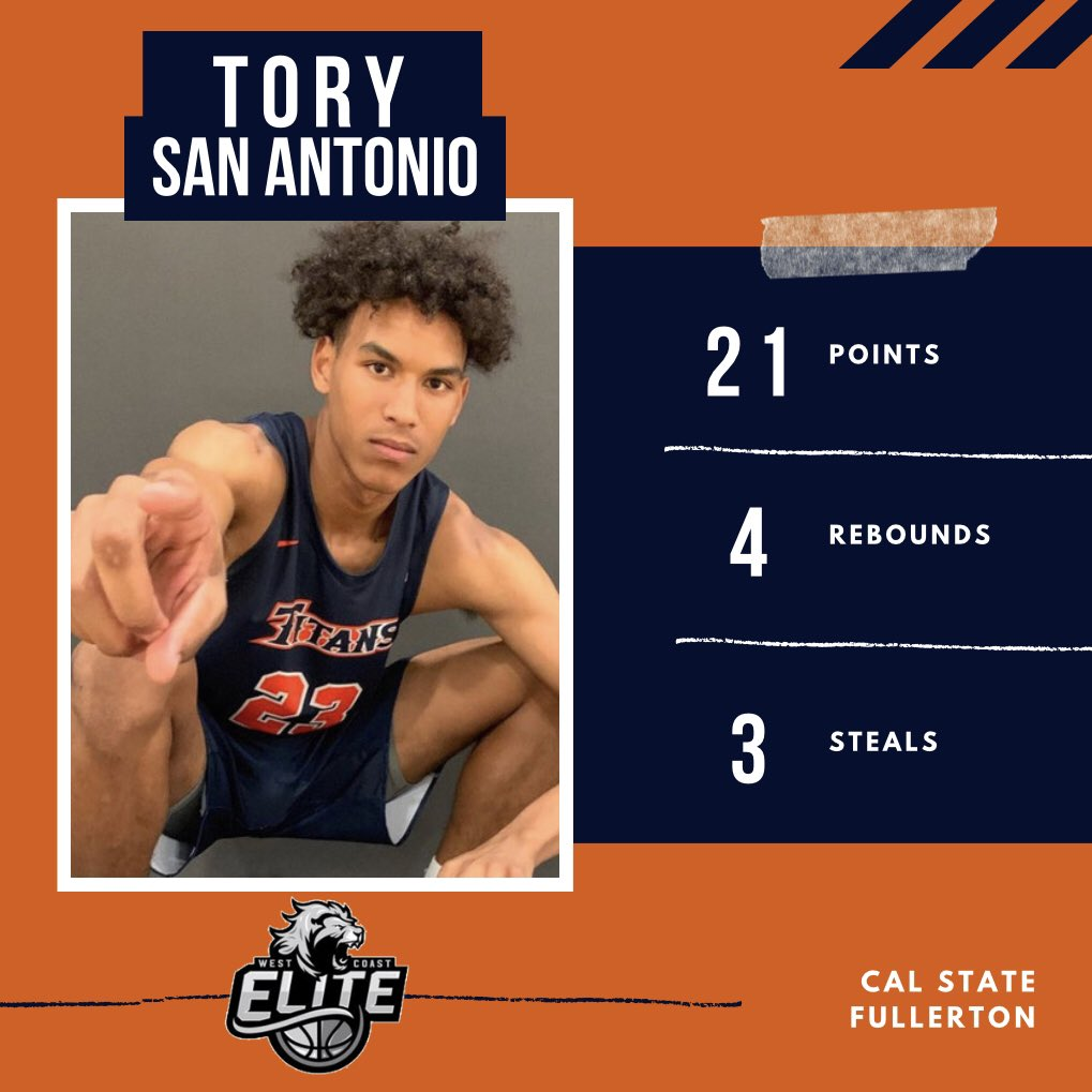 🚨 Alumni Alert 🚨  Cal State Fullerton sophomore guard Tory San Antonio had a career high 21 PTS, 4 REB, & 3 STL against Cal State Northeridge yesterday. Tory has earned some starts in his second year and is sure to start taking off  🏀🔥 #ALLIN