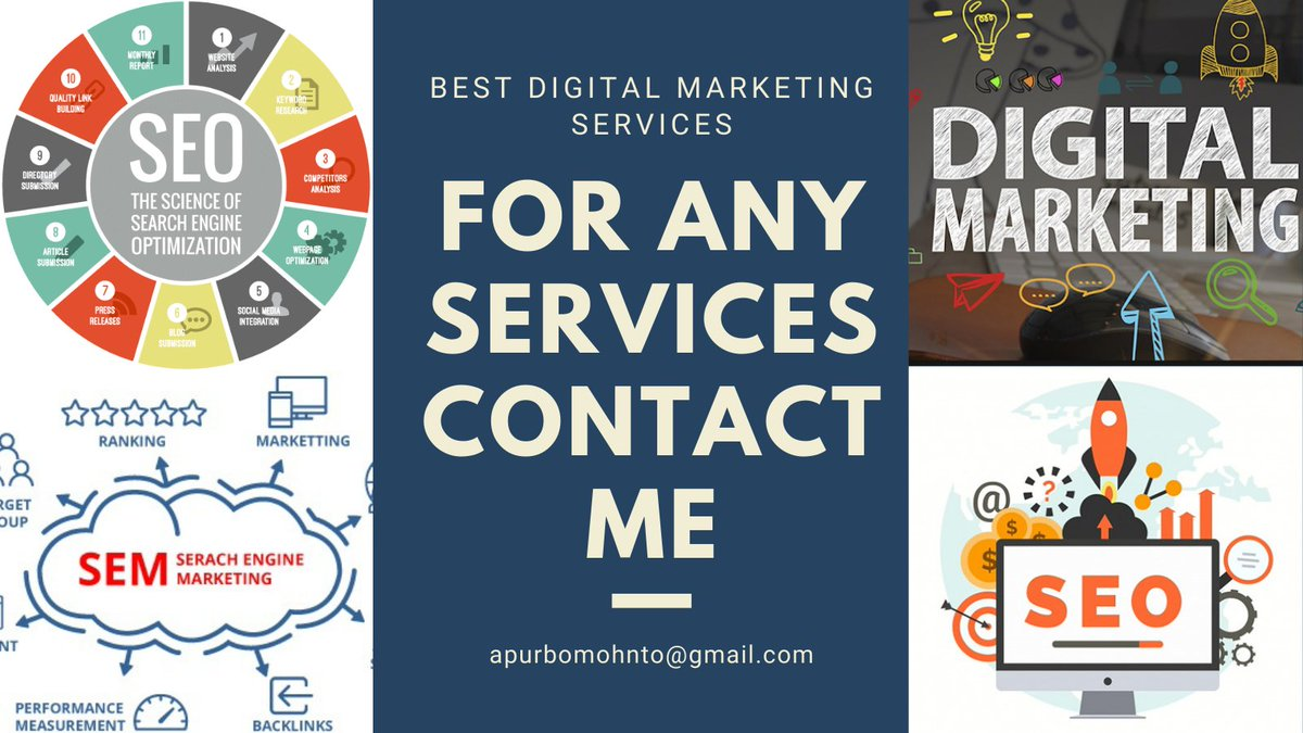 Best digital marketing services do you need this please contact me: apurbomohnto@gmail.com  https://t.co/bX6OvvzVFs  #digitalmarketing #digitalmarketing #marketing #marketing #seo #emailmarketing #socialmediamarketing #branding #socialmedia #contentmarketing #ppc https://t.co/GSL2oxqMEh