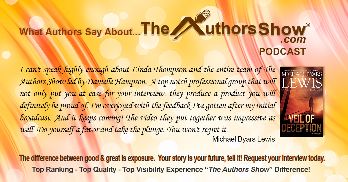 Another testimonial for The Authors Show® from Michael Lewis - https://t.co/UqEiyyC8ho #authors #books #marketing #podcasts #radio #publicity https://t.co/k0KFQsmUP6
