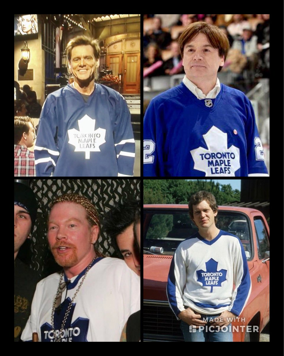 Legendary @MapleLeafs Fans🤘 @JimCarrey #MikeMyers @axlrose #DavidLetterman #LeafsForever #LeafsNation #GoLeafsGo