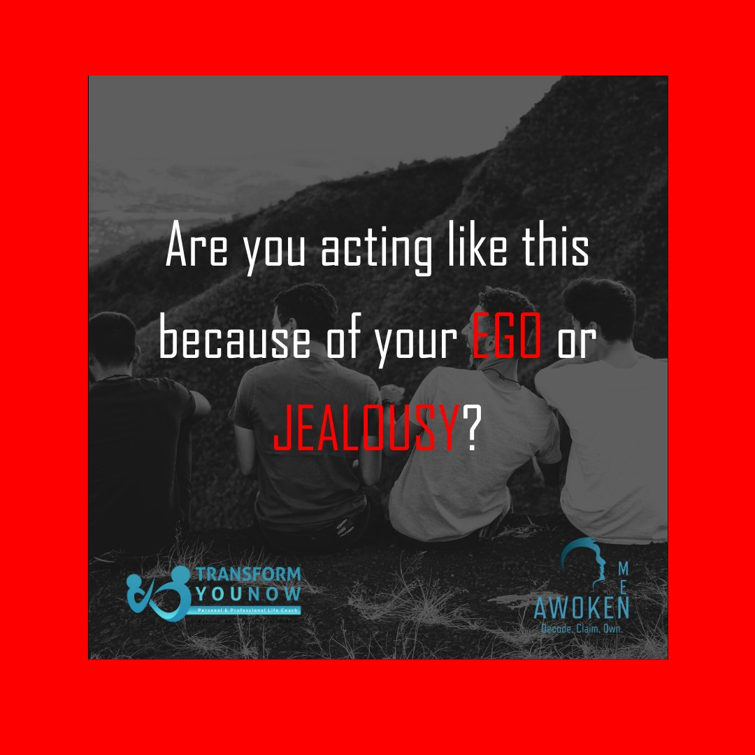Jealousy is an emotion and Ego is a person's self-esteem or sense of self-importance. These two can many times clash so it is important that one is aware of their difference so they can control certain unwanted behaviors. #HealWithPurpose #AwokenMen #Masculinity #ToxicMasculinity