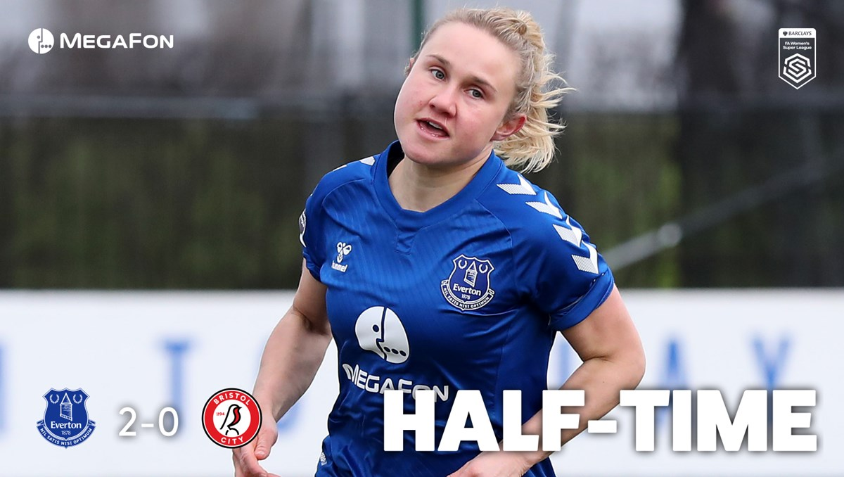 Replying to @EvertonWomen: HT. Looking good at the break! 👌  🔵 2-0 🔴
